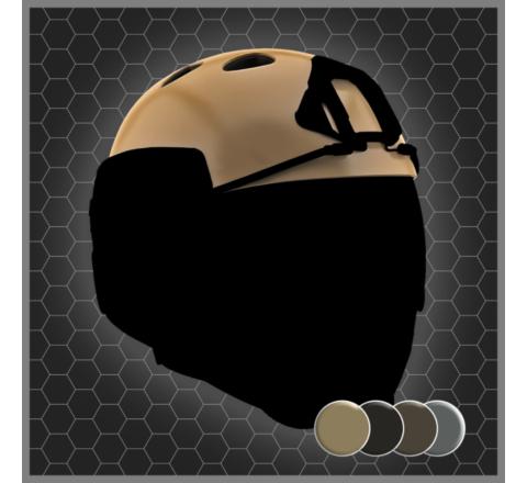 Warq Plain Colour Helmet - Shell Only