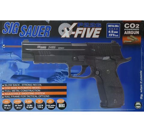 SIG SAUER P226 X-Five Blowback .177 / 4.5mm BB CO2 Air Pistol