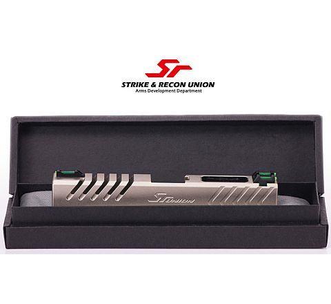 SR Union Mustang Custom Slide for WE Airsoft 17 GBB Pistol (Matte Silver)