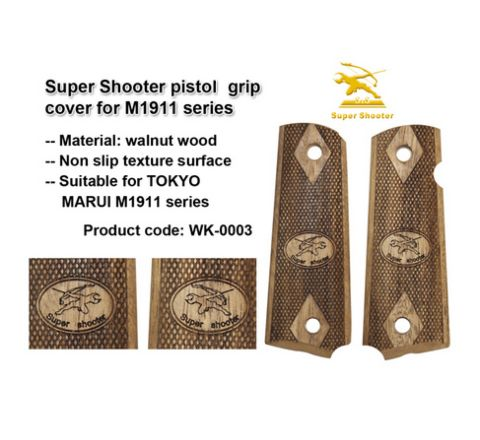 Super Shooter Walnut 1911 Grips