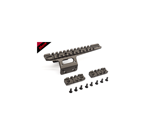 Action Army 20mm Front Rail Set for AAC T10 Rifle -FDE