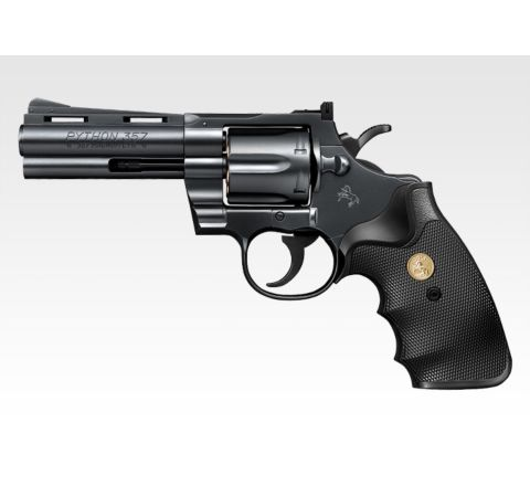 Tokyo Marui Colt Python .357 Magnum 4 Inch Black Revolver - Air Cocking