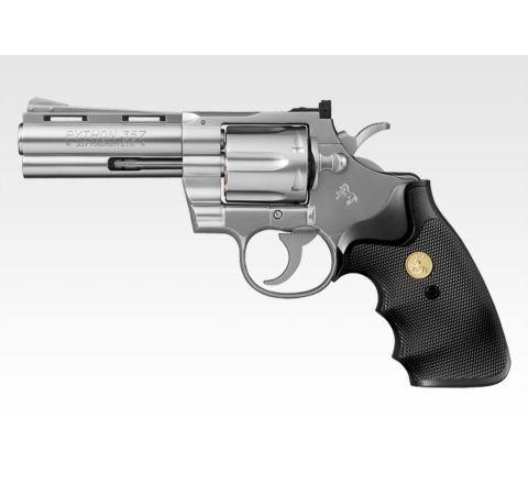 Tokyo Marui Colt Python .357 Magnum 4 Inch Stainless Revolver - Air Cocking