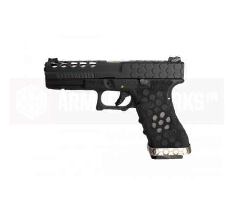 Armorer Works Custom VX Series Custom Hex-Cut Airsoft Pistol - VX0101 Black