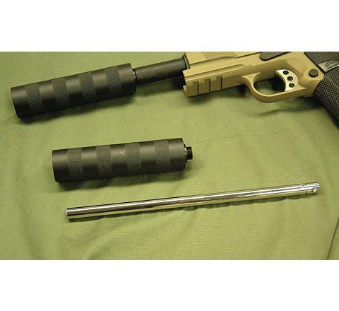 WE Pistol barrel extender and suppressor