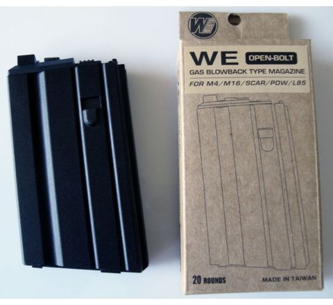 WE Airsoft M16A1 / L85 / XM177 Open Bolt GBB (Gas Blowback) 20rd spare magazine
