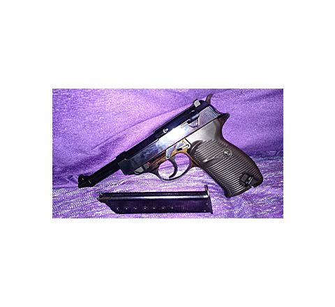 WE Airsoft P.38 with LED Case - Black