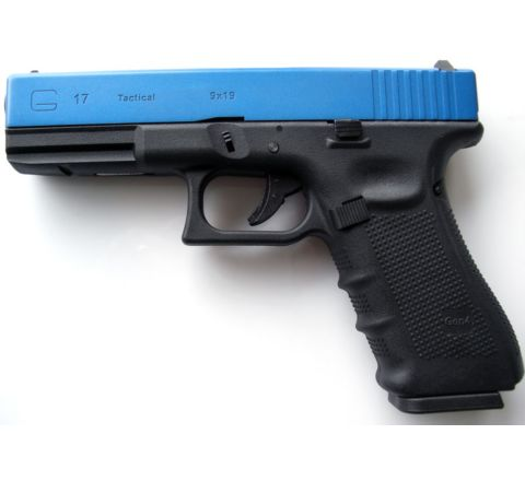 Two-Tone Blue WE Airsoft Glk 17 Gen 4 Tactical GBB Airsoft Pistol