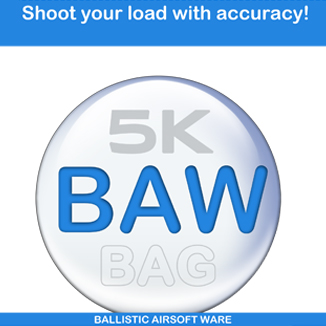 BAW Bag Precision BB's 5.95mm 0.25g 1Kg (4000BB's) - Zip-lock Pouch